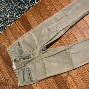 Abercrombie Olive Green Skinny Jeans